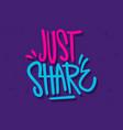 share label sign logo hand drawn brush lettering vector image