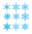 snowflakes design set on white background vector image