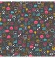 Social network seamless pettern of SEO internet vector image vector image