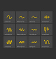 sound note wave types icons vector image vector image