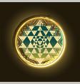 sri yantra golden symbol vector image vector image