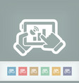 tablet connection icon vector image