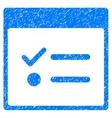 Todo Items Calendar Page Grainy Texture Icon vector image vector image