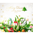 Traditional Christmas Banner vector image