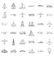 transport icons set outline style vector image vector image