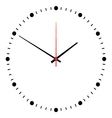 wall clock isolated on white vector image vector image