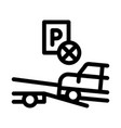 wrong parking car icon outline vector image vector image