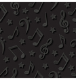 Seamless background with musical notes vector image