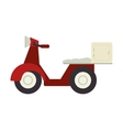 motorcycle scooter delivery pizza vector image