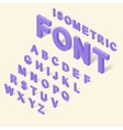 Alphabet with numbers icons set isometric 3d style vector image