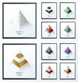 3D pyramid business Infographic set vector image vector image