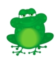 a funny frog vector image vector image