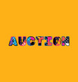 auction concept word art vector image