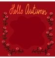 Autumn square fram vector image