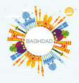 baghdad iraq city skyline with color buildings vector image vector image