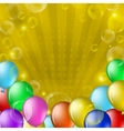 balloons and bubbles on gold vector image