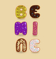 be mine colorful sweet donuts are as funny vector image vector image