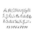 black of handwritten lettering font vector image