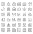 building construction outline icon set 23 vector image