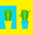 cactus icon in flower pot icon set desert prikly vector image vector image