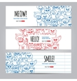 Cats banners template vector image vector image