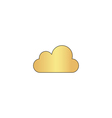 cloud computer symbol vector image vector image