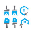 collection of home maintenance logo design vector image