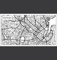 copenhagen map in black and white color vector image