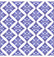 decorative blue and white pattern vector image vector image