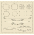 Decorative design elements set vector image vector image