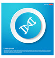 dna icon abstract blue web sticker button vector image