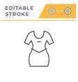 dress editable stroke line icon vector image vector image