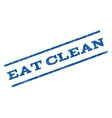 Eat Clean Watermark Stamp vector image vector image