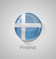 European flags set - Finland vector image vector image