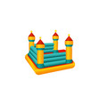 flat bouncy inflatable castle trampoline vector image vector image