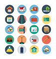 Flat Real Estate Icons 4 vector image vector image
