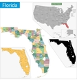 florida map vector image vector image