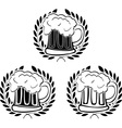 glory of beer vector image vector image