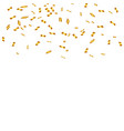 golden confetti isolated festive background vector image