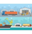 Goods Shipment Panoramas vector image