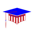 graduation hat styled in colors usa vector image vector image
