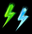 Green and blue lightning icon vector image vector image