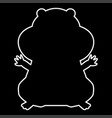 hamster silhouette it is icon vector image