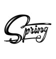 hand drawn lettering spring with shadow and vector image vector image