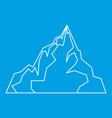 iceberg icon outline style vector image vector image