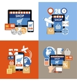 Internet shopping e-commerce online shopping set vector image vector image
