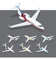 isometric private jet vector image vector image