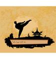 karate Grunge poster vector image vector image