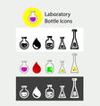 Lab bottle icons vector image