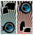 Lens and old photo frames vector image vector image